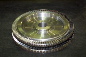 Рабочее колесо ротора пускового турбодетандера